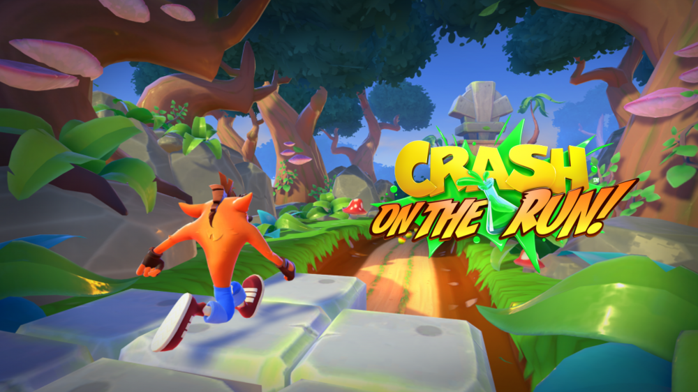 Crash On the Run Turtle Woods Wallpaper.png