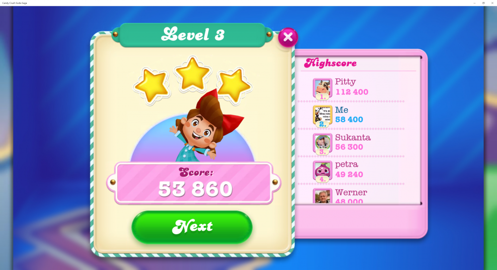 Soda Friends Games Week 5 - Play Any Level With A Score Under 59,999 - My Score 53,860 - CCSS - Origins7 Dale.png