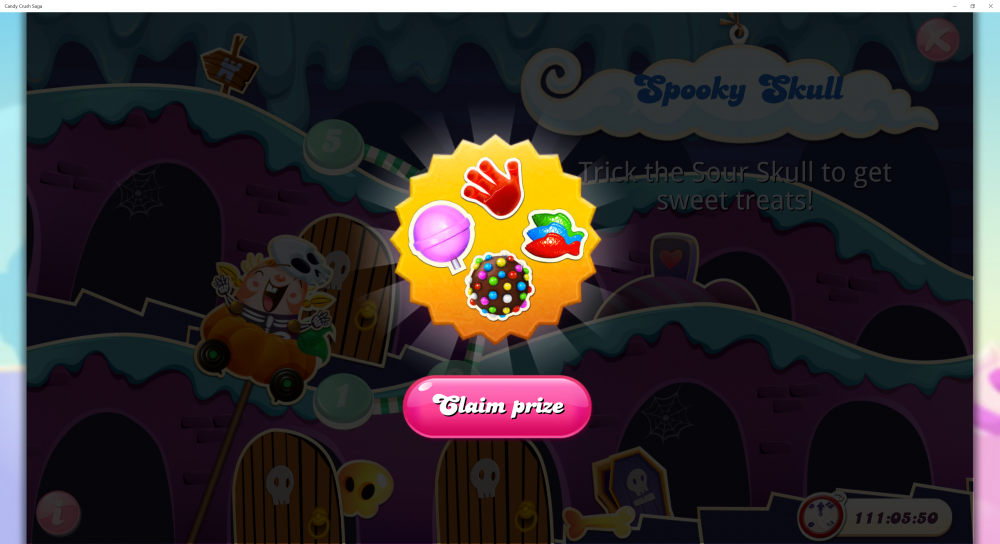 Spooky Skulls - 1st Prize On 5 Levels - Candy Crush Saga - Origins7 Dale.png