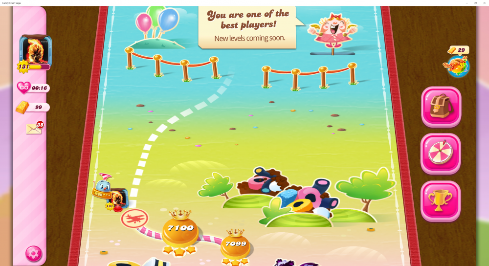 My Current Map Level 7101 (Finished Level 7100) Candy Crush Saga - End Of Game For The 2nd Time - Origins7 Dale.png