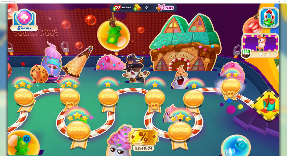 My Current Map Level 4946 (Finished Level 4945) Episode Pinball Praline On Candy Crush Soda Saga - Origins7 Dale.png