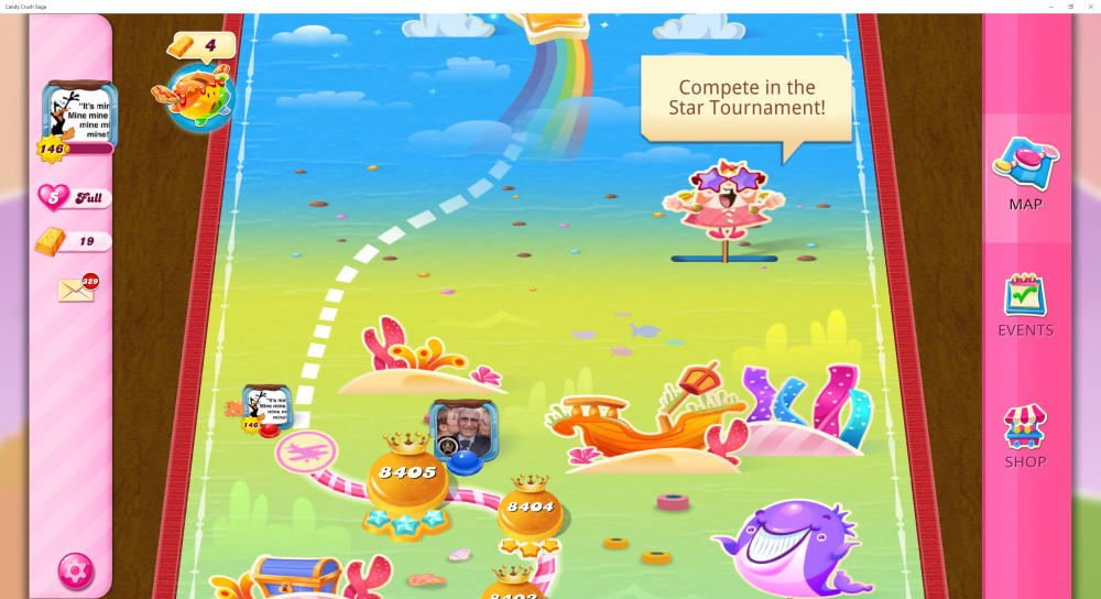 My Current Map Level 8406 (Finished Level 8405) 30th x At End Of The Game - Candy Crush Saga - Origins7 Dale.png