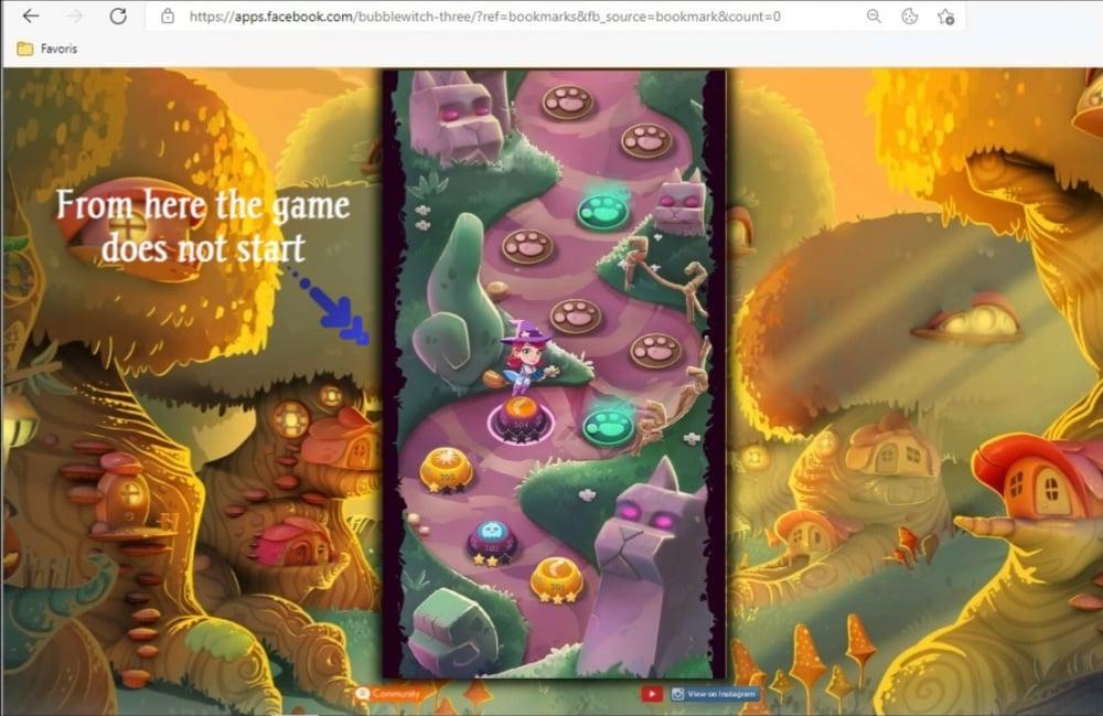 Problème jeu Bubble Witch 3 Saga 2.jpg