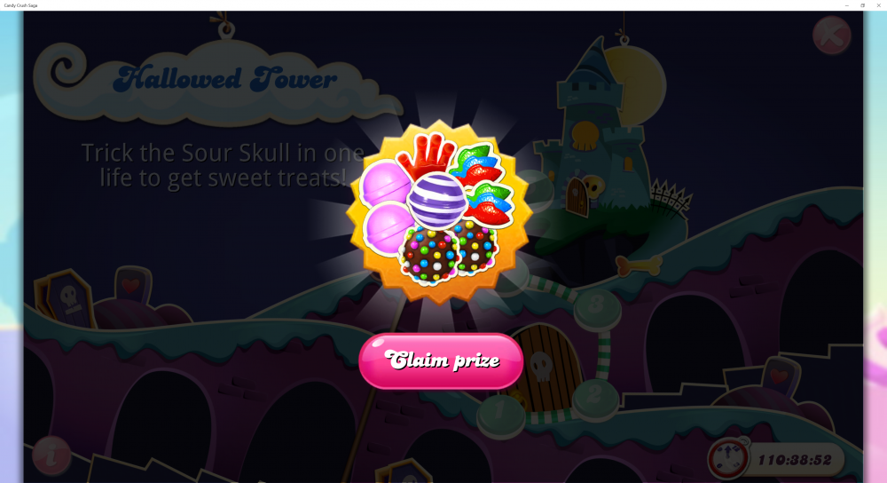Hallowed Tower - 1st Prize On 5 Levels - Candy Crush Saga - Origins7 Dale.png