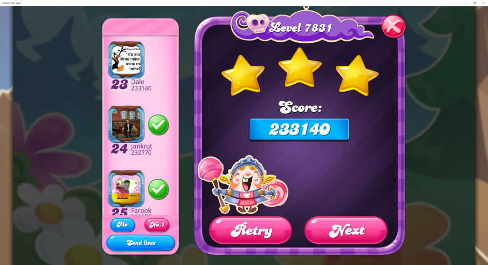 Yeti's Candy Tournament - Week 1 - Level 7831 Hard 3 Stars - CCS - Origins7 Dale.png