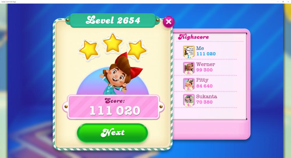 Beat The Soda Mod @Nix66 15 Moves! - Level 2654 Has 34 - 33 Moves Left! - Score 111,020 (3 Stars) CCSS - Origins7 Dale.png
