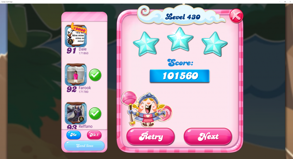 Fishing Tournament with Licorise Week 1 - Level 430 Score 101,560 Sugar Stars - 5 Points - CCSS - Origins7 Dale.png