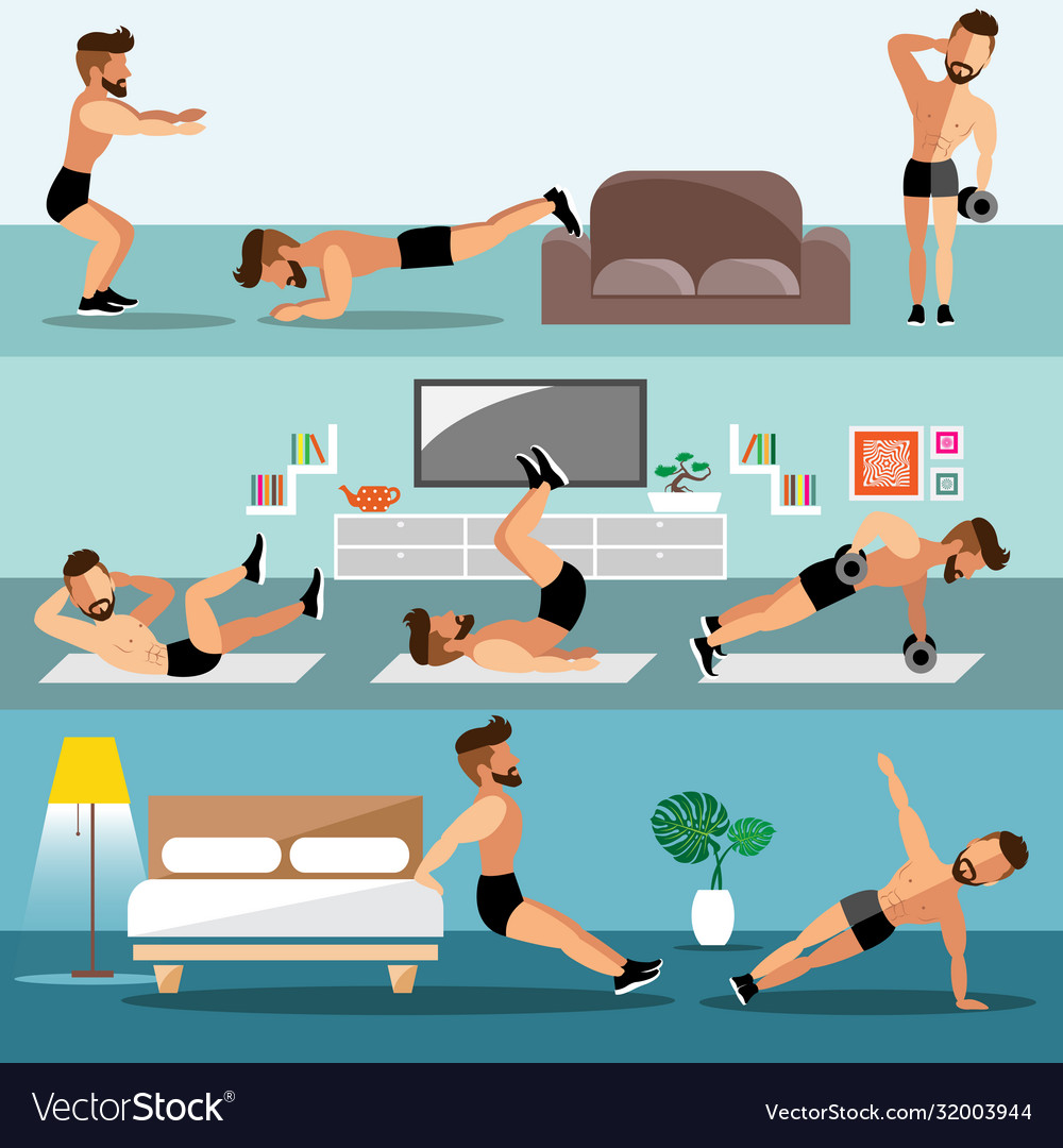 young-men-exercise-at-home-vector-32003944.jpg