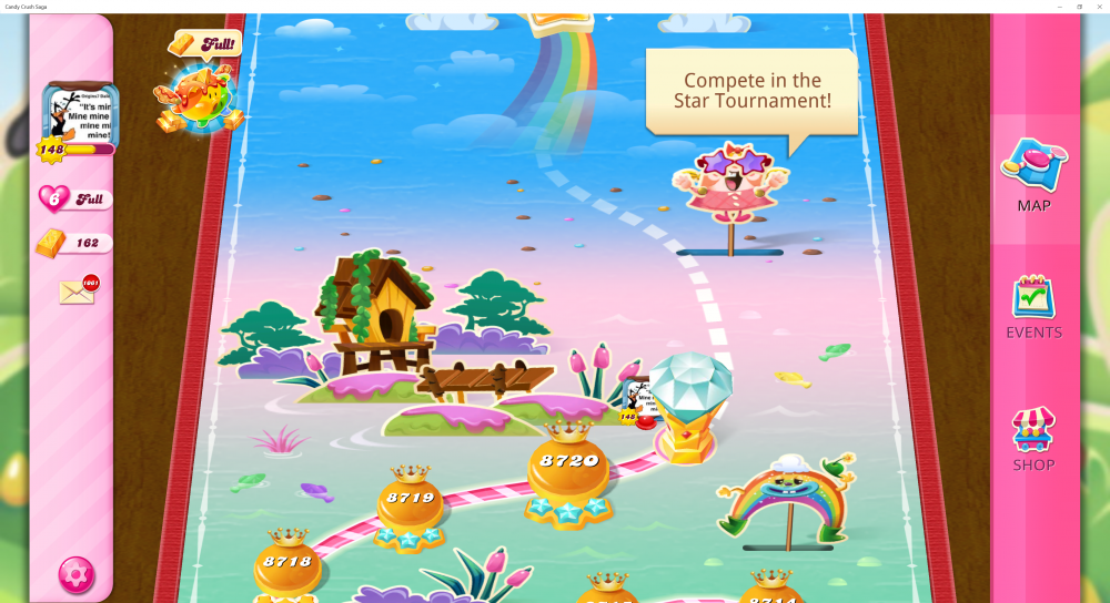 My Current Map Level 8721 (Finished Level 8720) 37th x At End Of The Game - Candy Crush Saga - Origins7 Dale.png