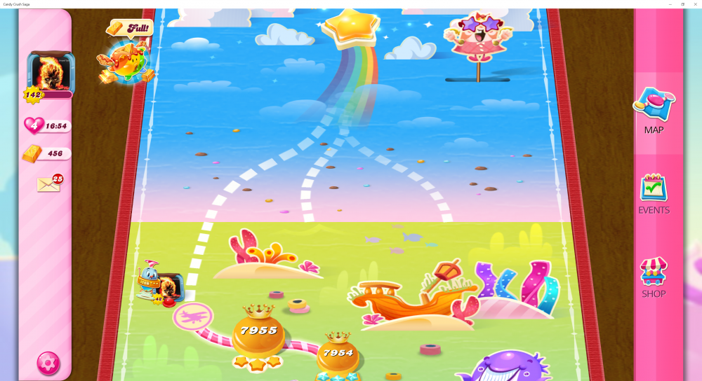 My Current Map Level 7956 (Finished Level 7955) 21st x At End Of The Game - Candy Crush Saga - Origins7 Dale.png