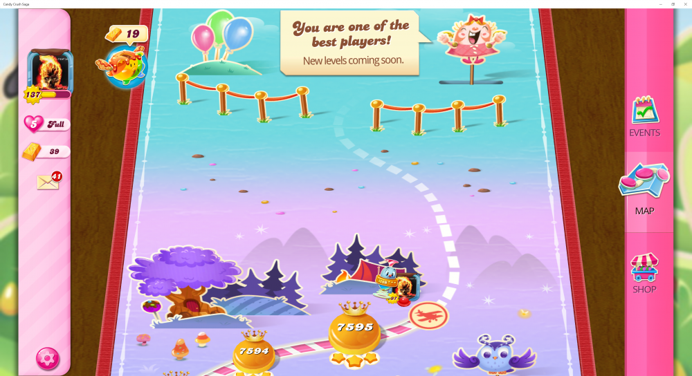 My Current Map Level 7596 (Finished Level 7595) Candy Crush Saga - End Of Game For The 13th Time - Origins7 Dale.png