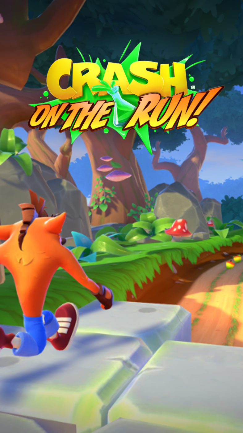 Crash On the Run Turtle Woods Wallpaper (Portrait).png