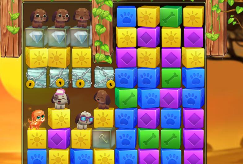 Pet Rescue Saga Level 94 glass blocks.PNG