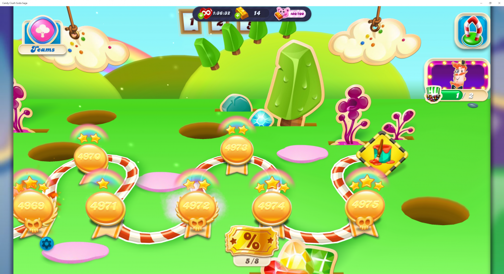My Current Map Level 4976 (Finished Level 4975) Episode Whack-A-Troll On Candy Crush Soda Saga - Origins7 Dale.png