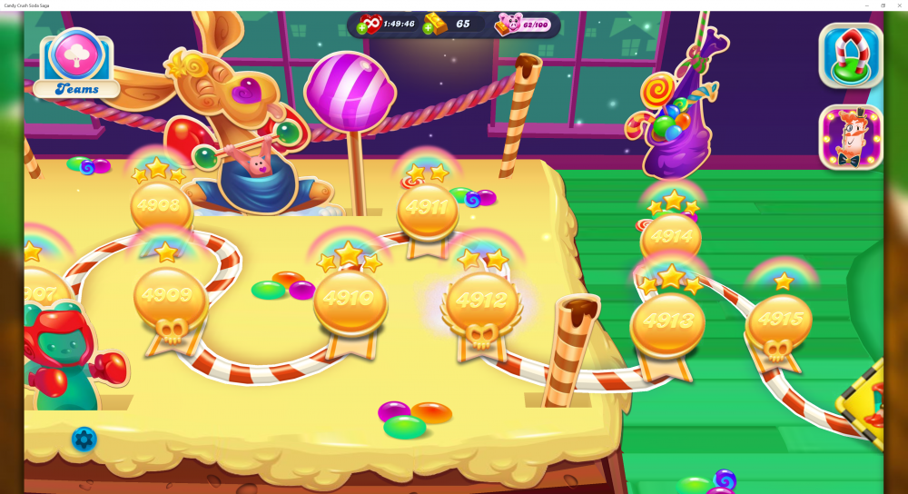 My Current Map Level 4916 (Finished Level 4915) Episode Candy Champions On Candy Crush Soda Saga - Origins7 Dale.png
