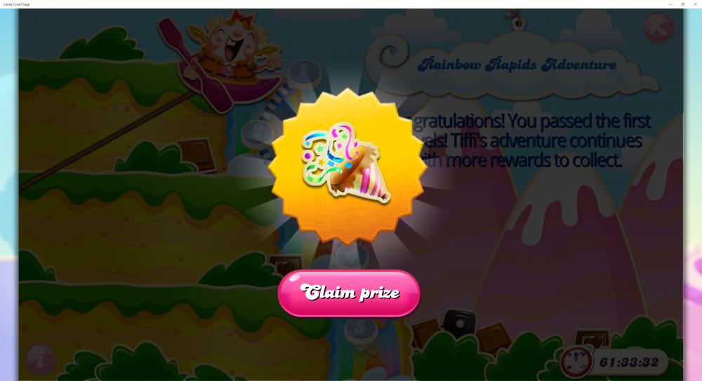 Rainbow Rapids Adventure - Rewards For Passing 4th x (5) Levels - Candy Crush Saga - Origins7 Dale.png