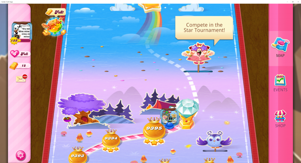 My Current Map Level 9396 (Finished Level 9395) 52nd x At End Of The Game - Candy Crush Saga - Origins7 Dale.png