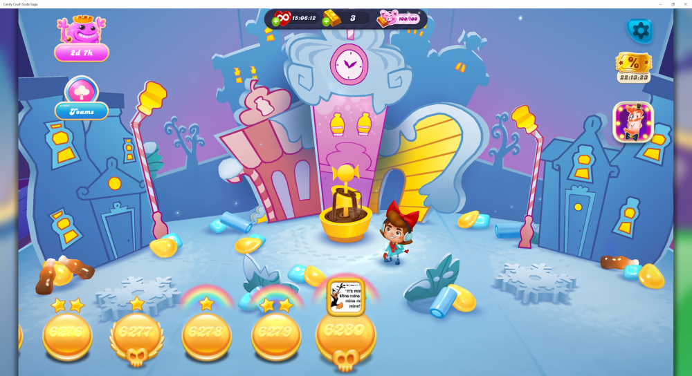 My Current Map Level 6281 (Finished Level 6280) Episode Is Unknown On New Soda Navigation Map - Candy Crush Soda Saga - Origins7 Dale.png