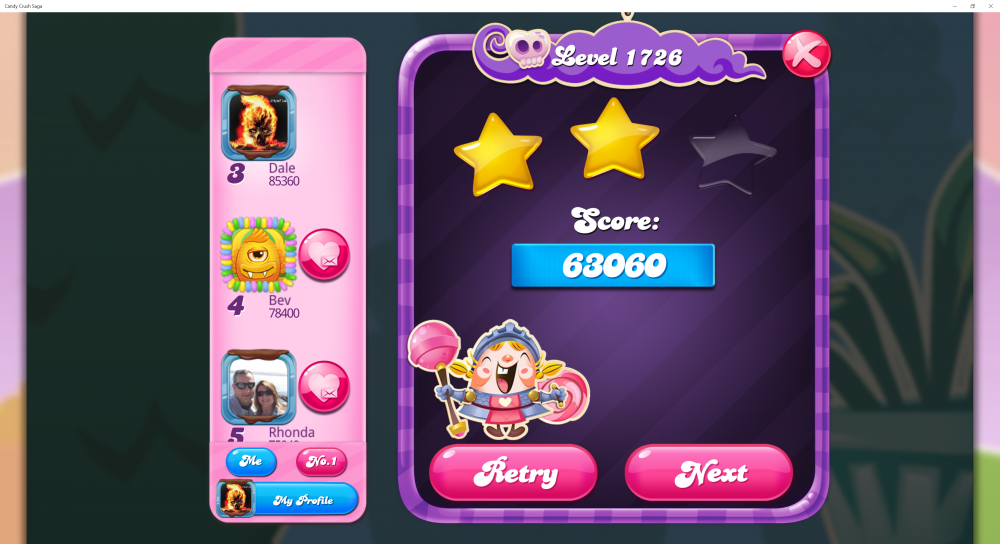 Level 1726 - Score 63,060 - @Crazy Cat Lad 5 Levels Contest - Candy Crush Saga - Origins7 Dale.png