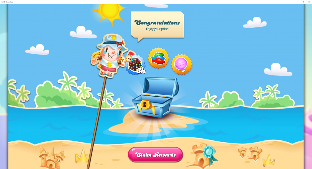 Tiffi's Beach Games - 2nd Place Prize - Candy Crush Saga - Origins7 Dale.png