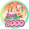 Candy Crush Saga 8000
