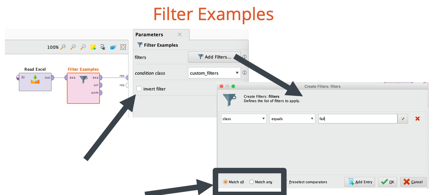 Filtering rows and columns — RapidMiner Community