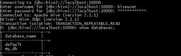 test failed hive connection when configuring radoop