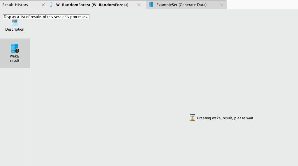 Creating weka_results, please wait     — RapidMiner Community