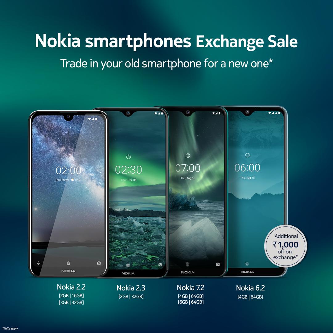 Nokia smartphones republic day exchange sale