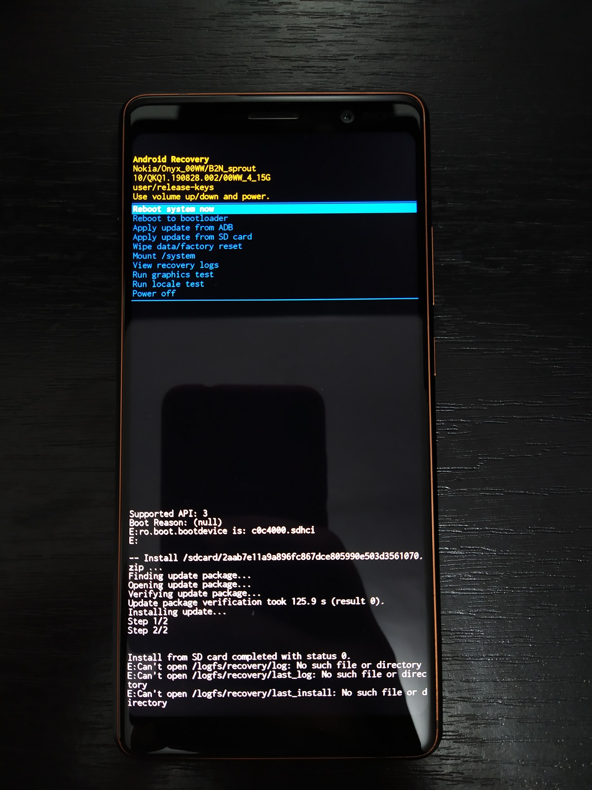 No such file or directory message in recovery after last two phone updates  from ADB or SDcard! — Nokia phones community