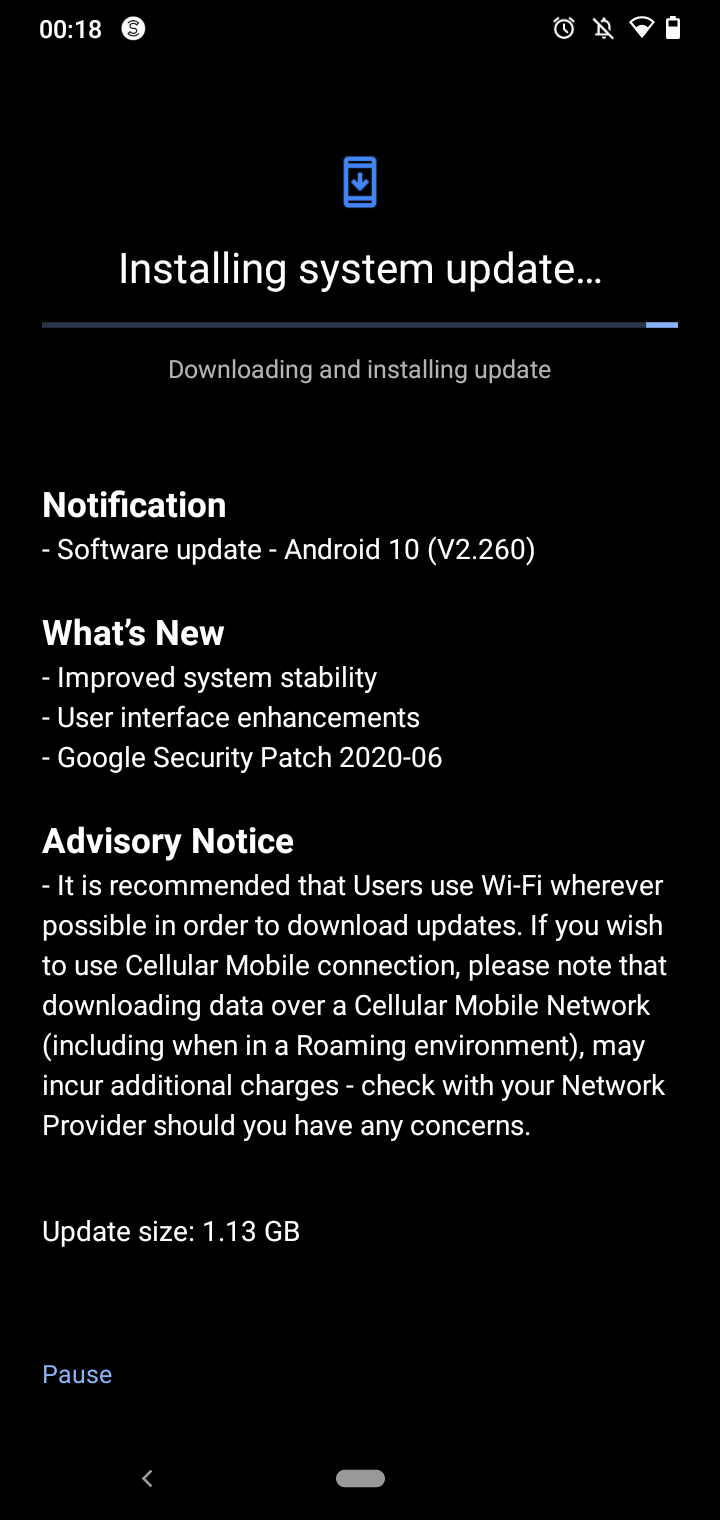 Nokia 2.3 Major update with June 2020 Android Security patch