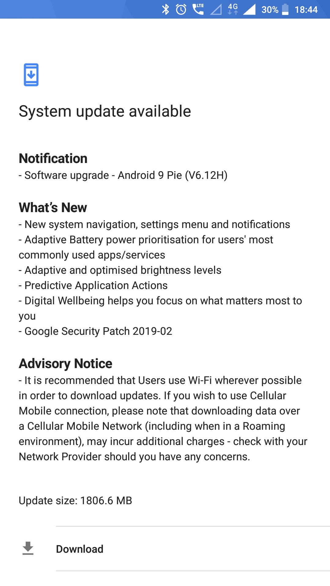 Nokia 6 Android 9 pie update Released today — Nokia phones