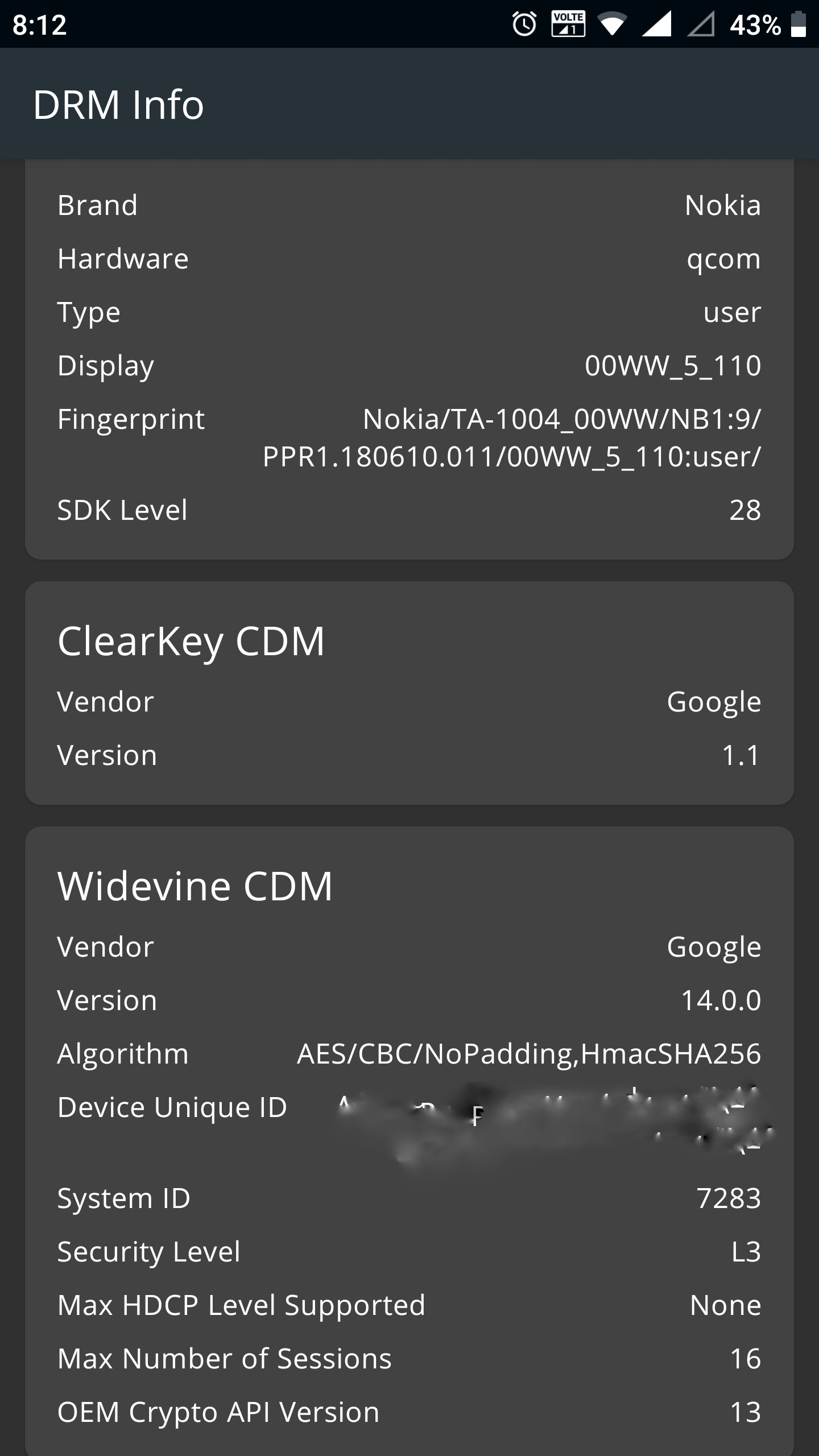 Google Widevine L1 Drm Certification Missing In Pie On Nokia 8