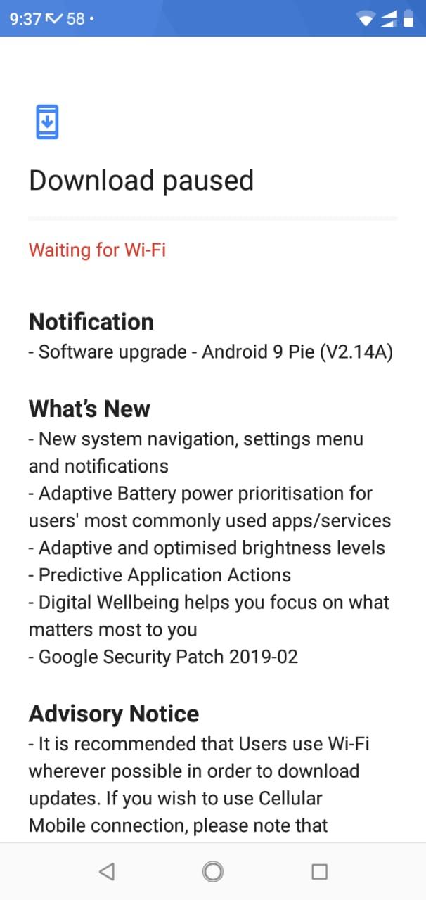 System update Android Pie — Nokia phones community