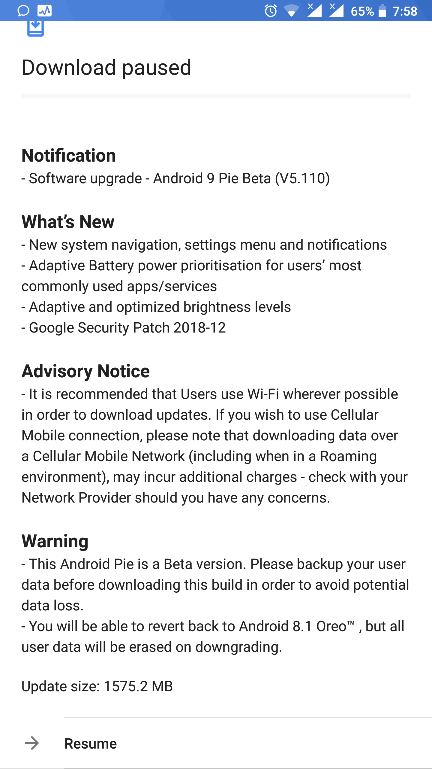 Ta-1004 still waiting for pie update - Page 2 — Nokia phones