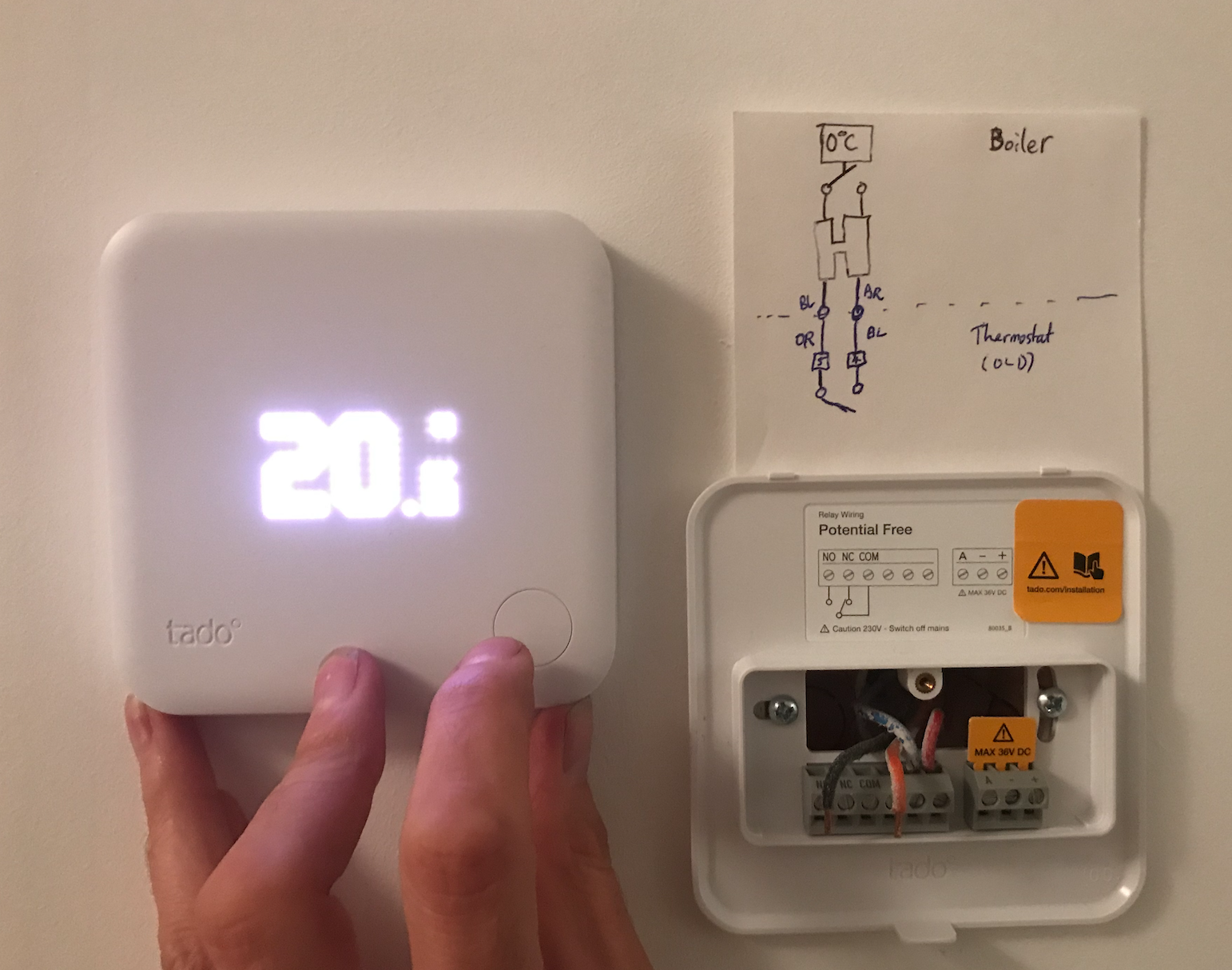 [SCHEMATICS_4HG]  Saunier Duval ISOTWIN F 24 E Installation to Smart Thermostat - 1046842 —  tado° Community | Wiring Diagram For Tado Thermostat |  | tado° Community