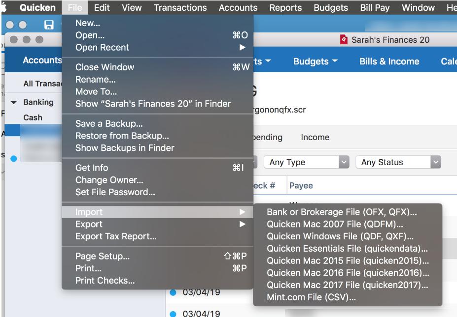 Converting Quicken Mac Starter 2019 to Quicken windows — Quicken