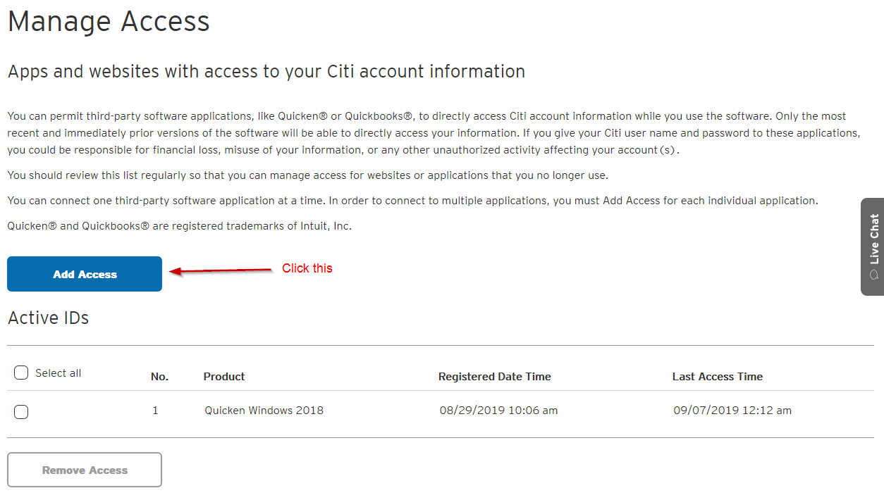 Citi Cards 8/24/2019 alert re relinking Citi account to