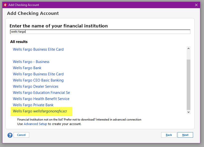 Wells Fargo Accounts Not Updating — Quicken