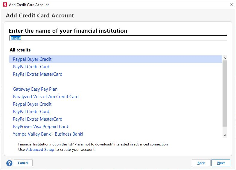 PayPal CreditCard stopped downloading — Quicken