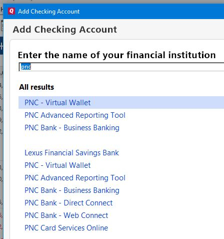 Can't download checking account from PNC - but MM and CC are