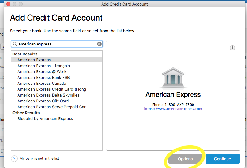 American Express Not Downloading — Quicken