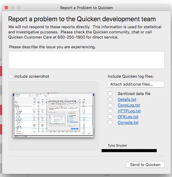 partial downloads mac — Quicken