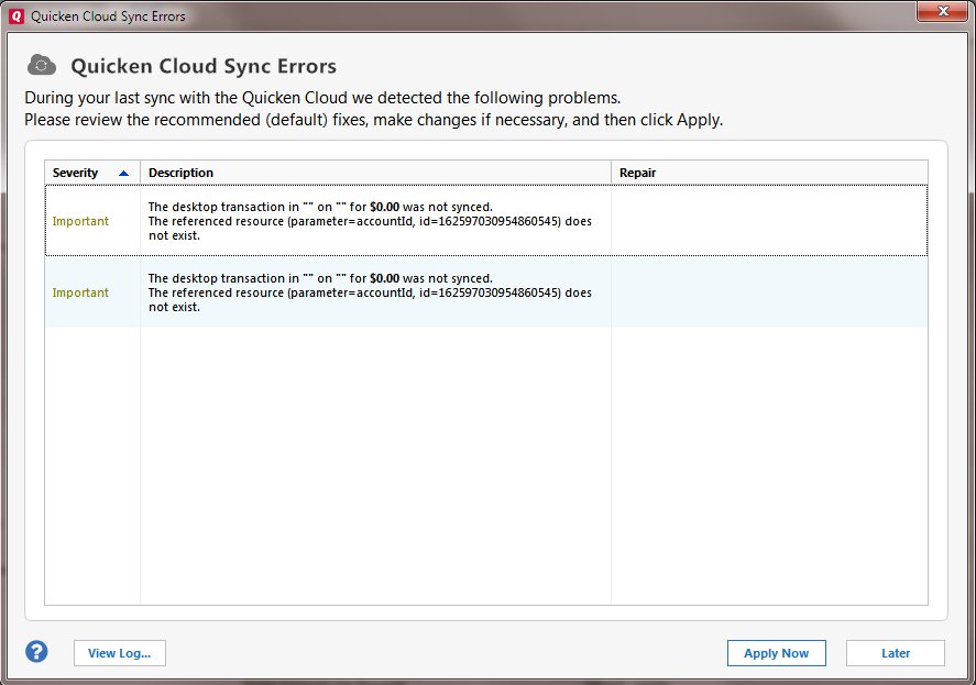 Very long syncing with Quicken Cloud — Quicken