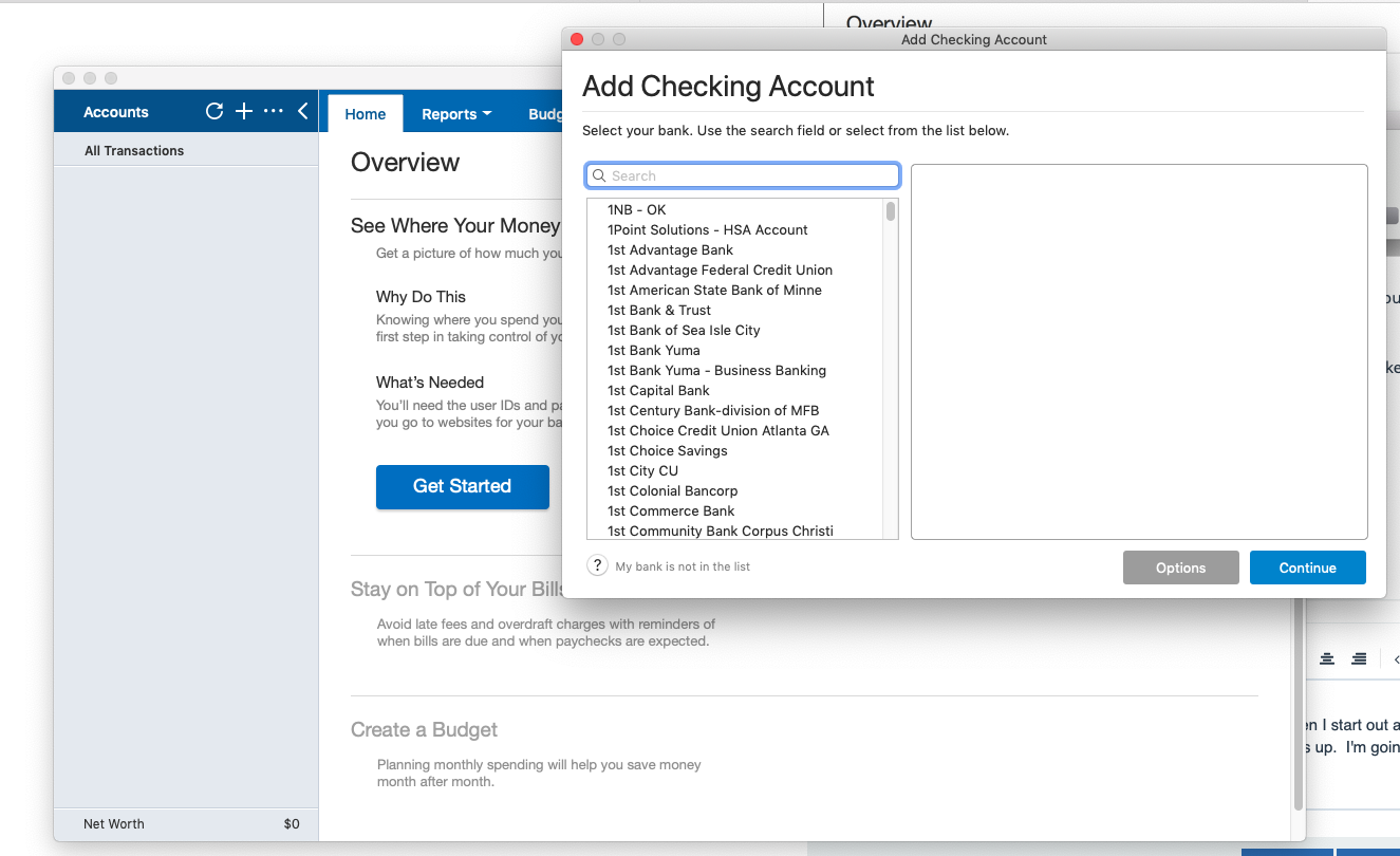 Converting from Banktivity — Quicken