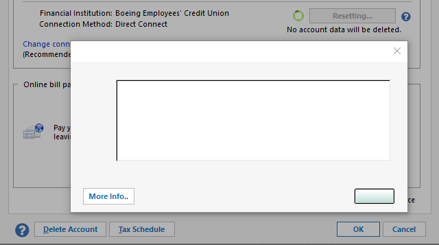 Boeing Employees Credit Union Error CC 501 and OL 220-A \u2014 Quicken