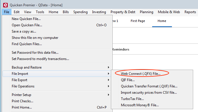 Error importing Web Connect QFX File - Page 3 — Quicken