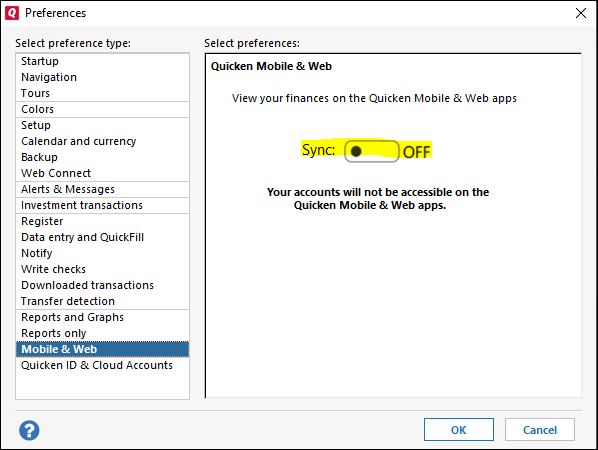 How do I turn off cloud synch. I do not want to use it at