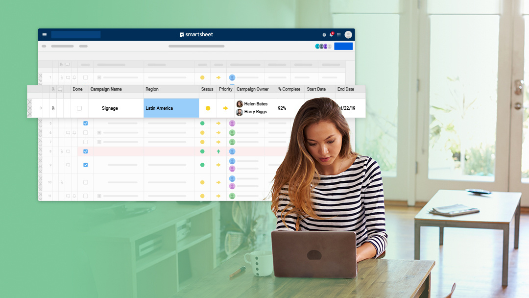 Using Smartsheet