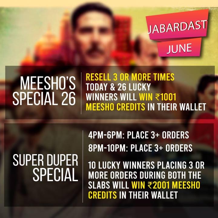 MEESHO'S SPECIAL 26! Win ₹2001 Meesho Credits Today! — Meesho
